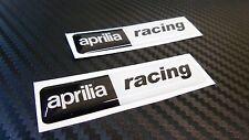 2 ADESIVI APRILIA RACING RESINATI ADESIVO RESINATO 3D STICKERS 6X1,4 CM COD.31