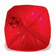 Commercial-Grade Bio-Hazard Waste Bags.  33 Gallon 33x40 Red Biohazard (250/cs)