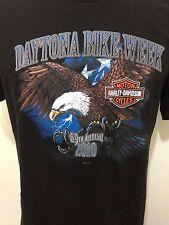 Harley Davidson Motorcycles Men L Daytona Bike Week Black T-Shirt 69 annual 2010