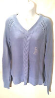 Old Navy Women's Blouse Sweeter Top Blue V-Neck Long Sleeve Size Medium NWT A1