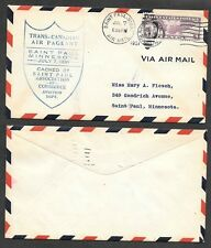 1931 Minnesota Air Mail Cover - Trans-Canada Air Pageant