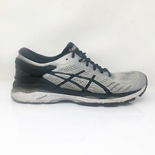 Asics Mens Gel Kayano 24 T749N Black Gray Running Shoes Lace Up Low Top Size 9