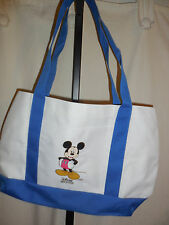 NWOT!  DISNEY MICKEY MOUSE CANVAS  MOVIE CLUB TOTE NEW WITH OUT TAGS WHITE/BLUE