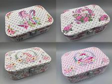 UK Supplier Soft Feel Unicorn Sparkle Jewellery Box Plush Interior