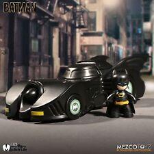 "Mezco MEZ-ITZ 1989 BATMAN MOVIE 2"" inch Batman with  Batmobile 2 PACK NEW!"
