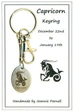 Z020 - Capricorn (Dec 22 - Jan 19) Carded Keyring Gift Birthday Zodiac Star Sign