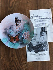 """Monarch Butterflies"" The Bradford Exchange Plate-On Gossamer Wings Collection"
