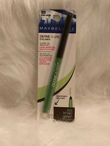 New Maybelline New York Define A Line Eyeliner Rare Khaki Green #809 Imperfect