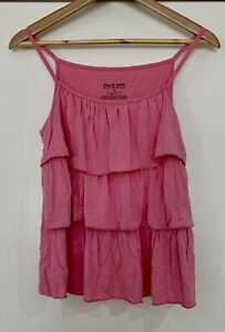 FACE OFF Ruffle Tank Top Size 12