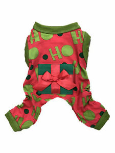 "Dog Christmas Pajamas ""HO HO HO"" Red & Green Pet Medium Wondershop at Target"