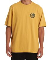 Billabong Men's T-Shirt Yellow Size 2XL Logo Graphic Crewneck Tee $25 #136