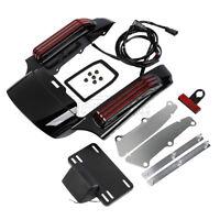 Rear Fender Fascia w/ LED Running Brake Turn Light For Harley Street Glide 14-19