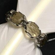 Eternity Band Ring Size 7.75 Beautiful Estate Sterling Silver Yellow Tourmaline