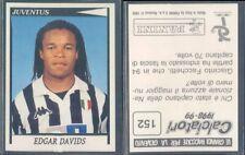 FIGURINA CALCIATORI PANINI 1998/99-JUVENTUS,DAVIDS-N.152-NUOVA CON VELINA