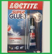 Loctite Super Glue Xtra forte 3g plastique métaux porcelaine cuir caoutchouc