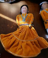 Rare vintage Native American Indian fabric doll