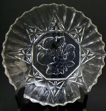 """Federal Glass PIONEER Intaglio Pattern 7¼"""" Round Bowl Crystal ca. mid-1900's"""