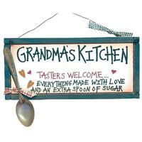 "5.5"" X 12"" Grandma's Kitchen ""Tasters Welcome"" Wood Sign"