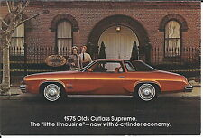 MA-050 - 1975 Cutlass Supreme Oldsmobile Wyant Olds Marion IN Postcard