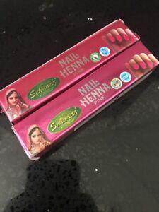 12 pcs  x 5g Golecha Sehnaaz Nail Henna Pink ***UK SELLER***