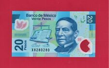 Mexico UNC Polymer Note 20 Pesos 2017 Series AD (P-122ad) Sign Legaspi & Rabiela
