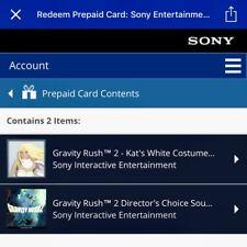 USA PSN Gravity Rush 2 DLC White Kat Costume | Preorder BONUS Outfit PS4 NO-GAME