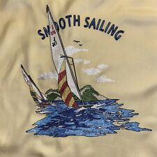 NAT NAST XXL YELLOW BEIGE EMBROIDERED LTD ED SMOOTH SAILING SILK CAMP SHIRT EUC