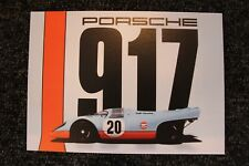Card Gulf Porsche 917 1970 #20 24 h Le Mans Steve McQueen (USA)