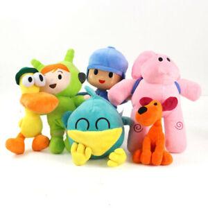 New 6pcs Pocoyo Elly Pato Loula Soft Plush Stuffed Figure Toy Doll Easter Gift