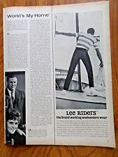 1963 Lee Riders Jeans Ad The Brand Working Weekenders Wear  Sailing Theme
