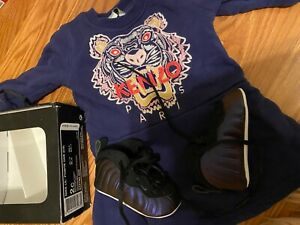 Kenzo Toddler dress size 6 month with matching purple nike shoes 2c