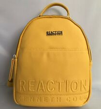 Kenneth Cole Reaction Womens Trooper Faux Leather Mustard Backpack $89