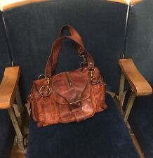 GORGOUS SOFT DARK BROWN LEATHER SHOULDER BAG EXCELLENT CONDITION BO HO CHIC