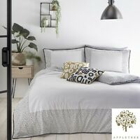 Appletree DOTTIE White 180 TC 100% Cotton Percale Duvet Cover Set