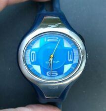 SPEEDO Aqua Trim Swimming Blue & Silver 40mm Unisex Watch - New Battery