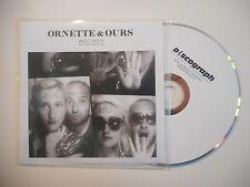 ORNETTE & OURS : AVEC NOUS ♦ CD SINGLE PORT GRATUIT ♦