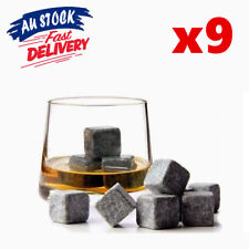 9pcs Whiskey Stone Wine Ice Cube Reusebale Drink Cooler Whisky Rock Scotch Party