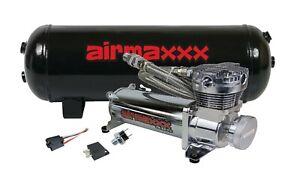480 Chrome Air Ride Compressor 3 Gallon Tank & Drain 165 on 200 off Switch