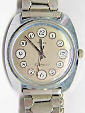 Vintage Gents Rare Timex Watch Phone Dial Big Case Wrist Watch.