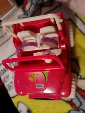 Mattel Barbie Kelly Doll and other furniture..jeep..swing..crib and more