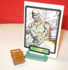 1984 GI JOE ROADBLOCK MACHINE GUNNER BACKPACK ACCESSORY & COLLECTOR CARD ARAH **