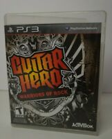 GUITAR HERO WARRIORS  ROCK PS3 SONY PLAYSTATION 3 COMPLETE NICE FREE SHIPPING!b2