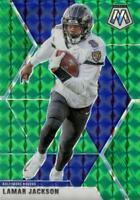 2020 Panini Mosaic Green Prizm Lamar Jackson #19 Baltimore Ravens