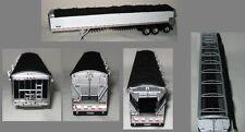 NEW WHITE TRIP AXLE DCP 1/64 WILSON BELT TRAILER W/ BLACK TARP