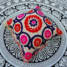 """Vintage Pillow Cases Woolen Embroidered Indian Suzani Cushion Cover 16 x 16"""""""