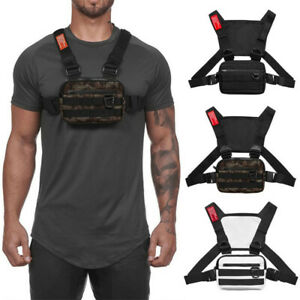 Tactical Harness Chest Rig Waist Bag Hip-Hop Fanny Front Pack Bag Adjustable