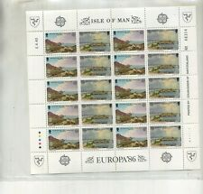 ISLE OF MAN 20 STAMP SHEET SCOTT 307 SAINT MICHAELS ISLAND