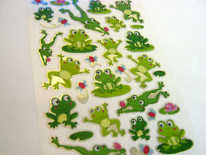 Frog, Turtle, Crocodile Reptile Stickers for Kids, Children PVC03, Fun Labels
