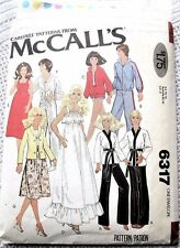 6317 SEWING PATTERN~1978~BARBIE+KEN&SONNY+CHER&DONNY+MARIE DOLL CLOTHES in2 SZs