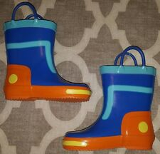 DISNEY MILES FROM TOMORROWLAND Boys Shoes RAIN BOOTS Snow WINTER BLUE Size 7 NEW